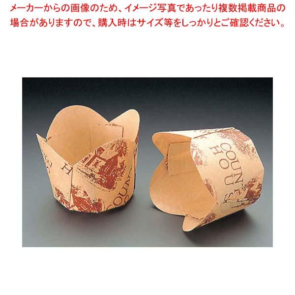 【まとめ買い10個セット品】 【 業務用 】チューリップカップ(100枚入)茶 M-305 φ45