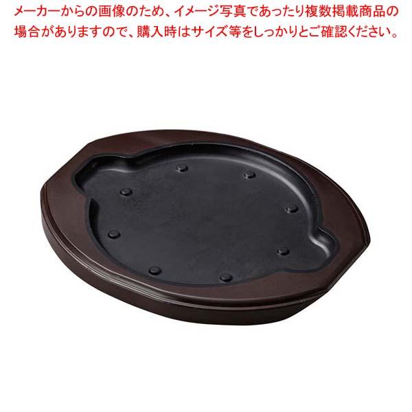 【まとめ買い10個セット品】 【 業務用 】ステーキ台 丸用 大 ブラック M44-096