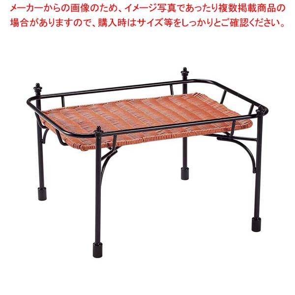 【まとめ買い10個セット品】 【 業務用 】積み重ねスタンド角 DS515 低 ブラウン