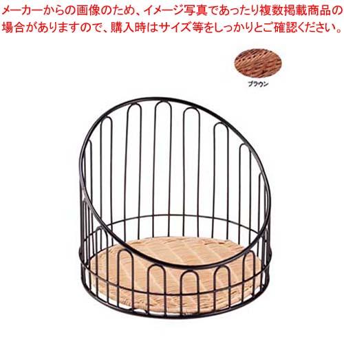 【まとめ買い10個セット品】 【 業務用 】バゲットスタンド丸 DS508 低 ブラウン φ355×H300