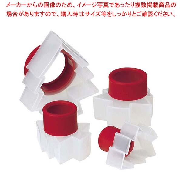 【まとめ買い10個セット品】 【 業務用 】クイジプロ クッキーカッター ツリー型