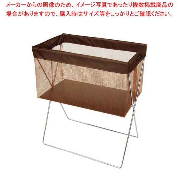 【まとめ買い10個セット品】 【 業務用 】サイドワゴン・メッシュ浅型(マジックテープ留め仕様) R-336 ブラウン