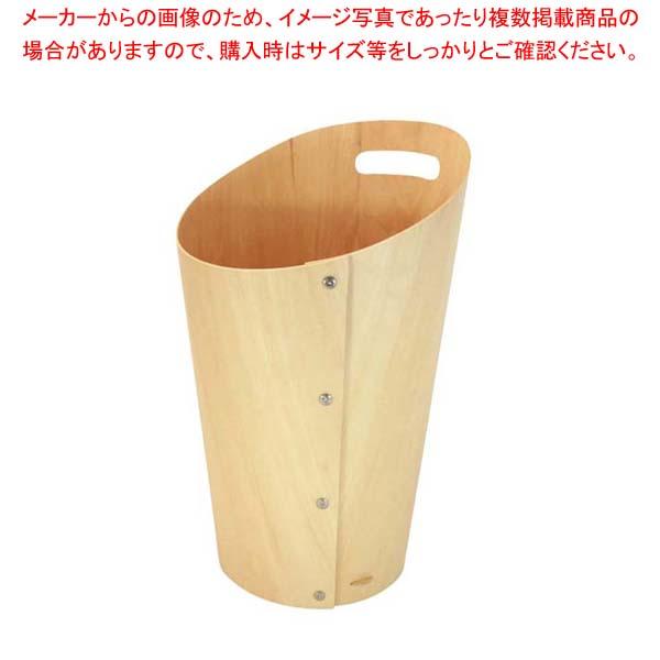 【まとめ買い10個セット品】 【 業務用 】木製 ダストボックス L ナチュラル 102021