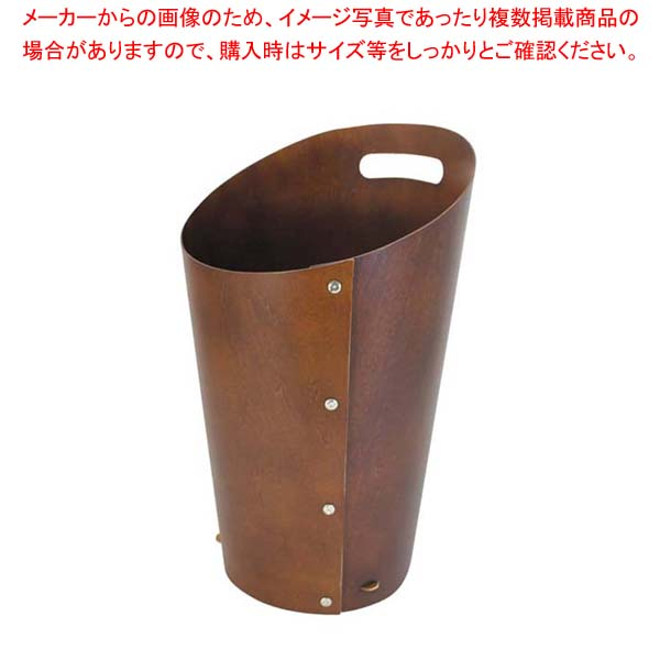 【まとめ買い10個セット品】 木製 ダストボックス L ブラウン 102022 【厨房館】【 店舗備品・防災用品 】