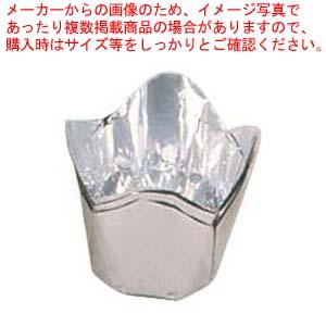 【まとめ買い10個セット品】 【 業務用 】アルミケース チューリップ型(100枚入)60号 銀