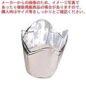 【まとめ買い10個セット品】 【 業務用 】アルミケース チューリップ型(100枚入)55号 銀