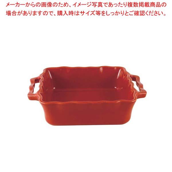 【まとめ買い10個セット品】アポーリア スクウェアベイキングディッシュ 25cm チェリー 110025020【 オーブンウェア 】 【厨房館】