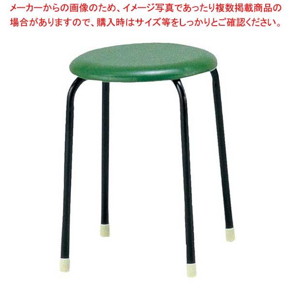 【まとめ買い10個セット品】 【 業務用 】丸椅子 C-19(10脚入)グリーン【 メーカー直送/代金引換決済不可 】