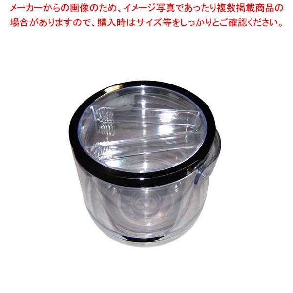 【まとめ買い10個セット品】 【 業務用 】アクリル 二重 アイスバケット(トング蓋付)WF-017