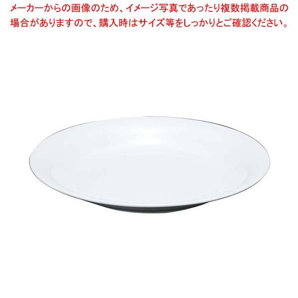 【まとめ買い10個セット品】 【 業務用 】ファッションホワイト 24cm パスタプレート FM900-400