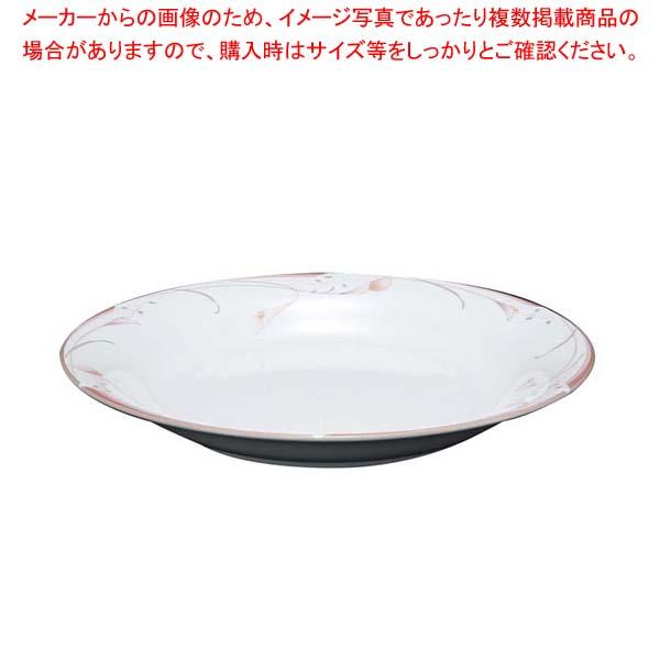 【まとめ買い10個セット品】フラワーピンク 24cm パスタプレート OFM01-400【 和・洋・中 食器 】 【厨房館】