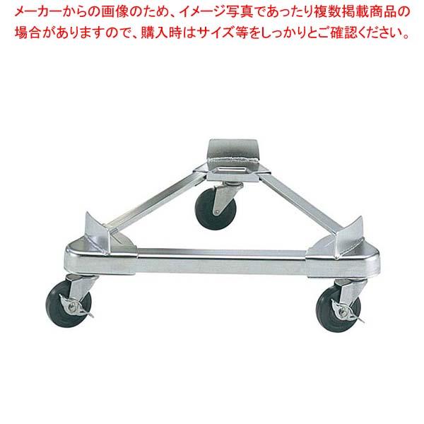 【まとめ買い10個セット品】 【 業務用 】ステンレス 寸胴用 トライアングルキャリー42cm用(ゴムキャスター)