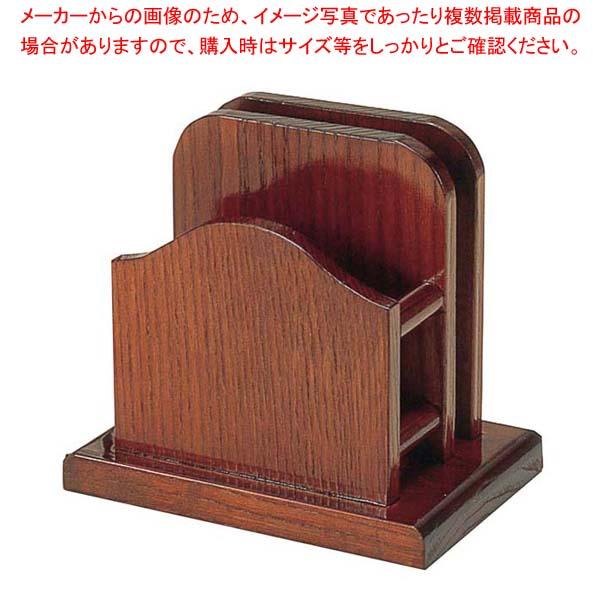 【まとめ買い10個セット品】 【 業務用 】木製 山型 メニュー・ナフキン立(15191)