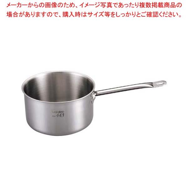 【まとめ買い10個セット品】 【 業務用 】【 即納 】 EBM Gastro 443 深型片手鍋(蓋無)18cm