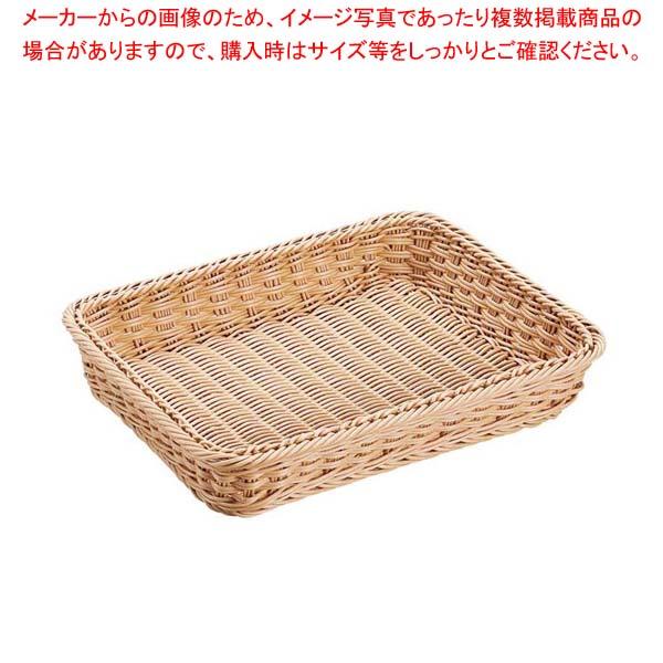 【まとめ買い10個セット品】抗菌樹脂 角型バスケット DS101 36型 ナチュラル【 ディスプレイ用品 】 【厨房館】