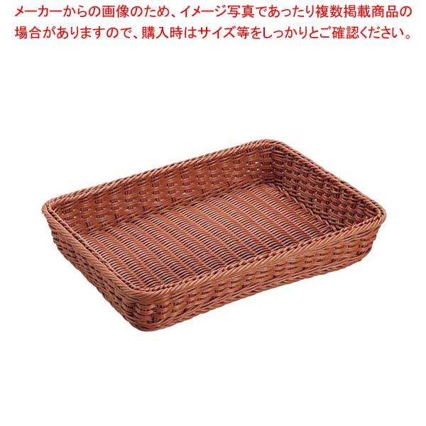 【まとめ買い10個セット品】 【 業務用 】抗菌樹脂 角型バスケット DS101 49型 ブラウン