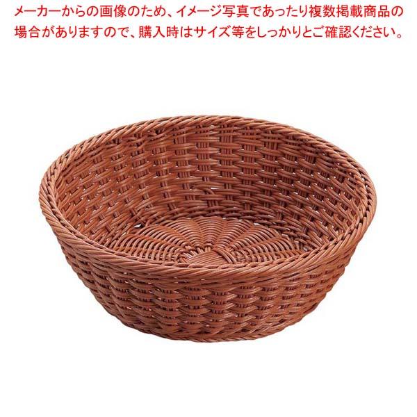【まとめ買い10個セット品】 【 業務用 】抗菌樹脂 丸型バスケット DS106 27型 ブラウン