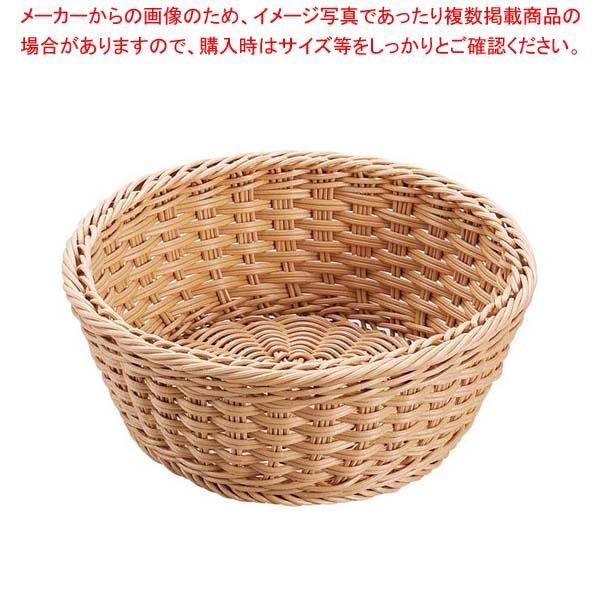 【まとめ買い10個セット品】 【 業務用 】抗菌樹脂 丸型バスケット DS106 30型 ナチュラル