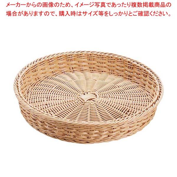 【まとめ買い10個セット品】 【 業務用 】抗菌樹脂 丸型バスケット DS107 37型 ナチュラル