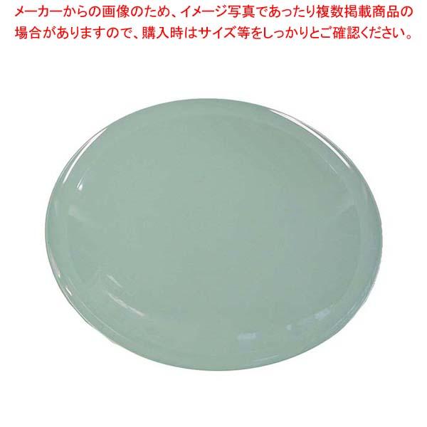 【まとめ買い10個セット品】 【 業務用 】プラ容器 高台皿(5枚入)9寸 青磁