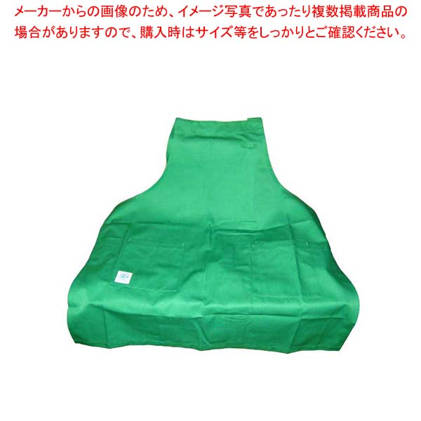 【まとめ買い10個セット品】 【 業務用 】エコエプロン CT2415-4 フリー グリーン