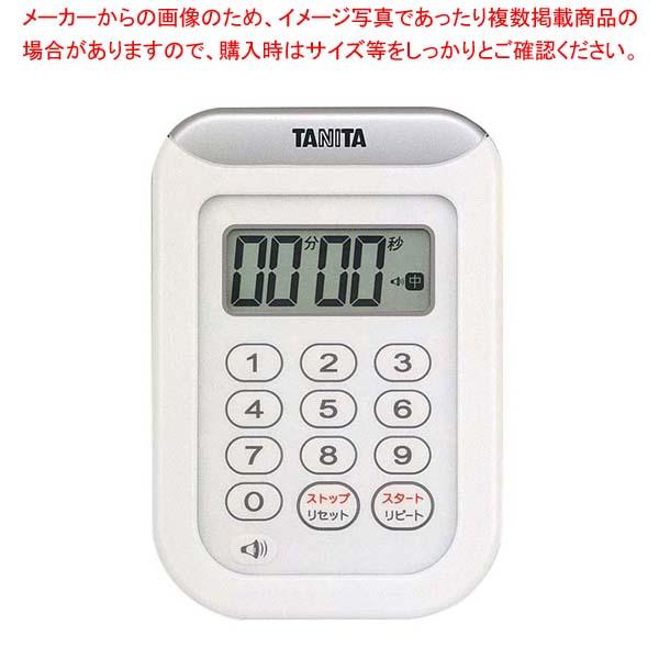 【まとめ買い10個セット品】 【 業務用 】タニタ 丸洗いタイマー 100分計 TD-378 ホワイト