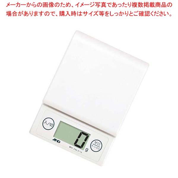 【まとめ買い10個セット品】 A&D ホームスケール 2kg UH-3303-W ホワイト 【厨房館】【 ハカリ 】