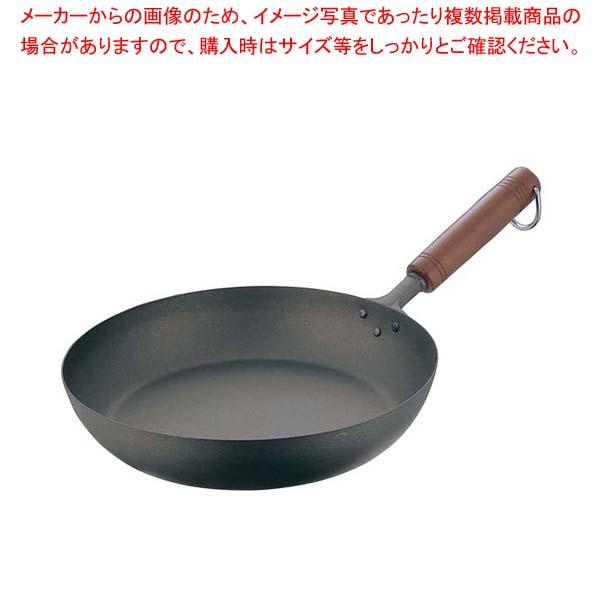 純チタン 木柄 フライパン 24cm 【厨房館】