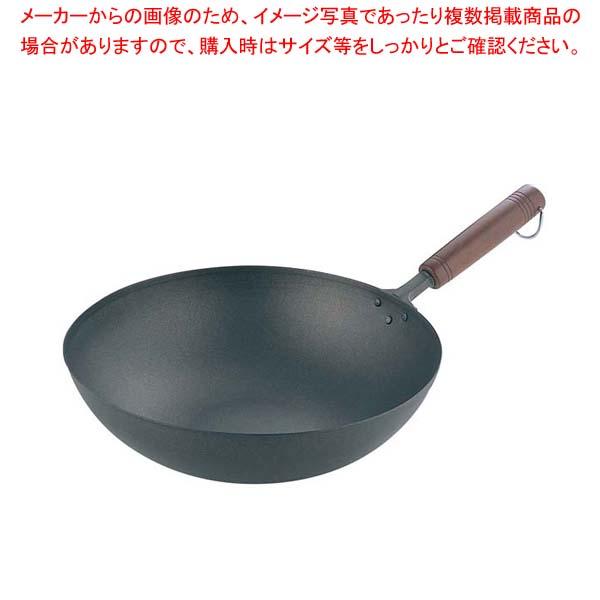 純チタン 木柄 いため鍋 28cm 【厨房館】