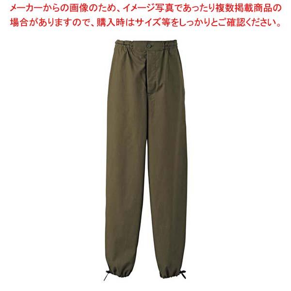 作務衣パンツ EL3378-4(男女兼用)抹茶 L 【厨房館】ユニフォーム