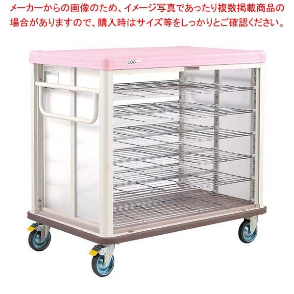 エレクター COO常温配膳車 シャッター式 ベーシックタイプ JCSB54SP シュガーピンク 【厨房館】カート・台車