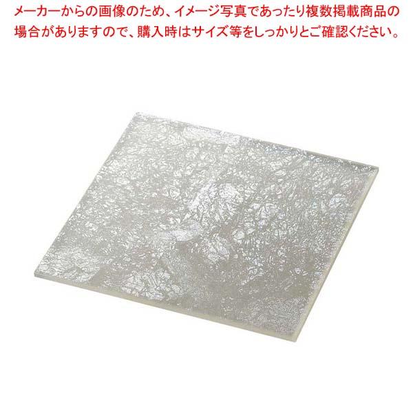 ライクガラス スクウェアプレート L 銀箔 1202338 【厨房館】和・洋・中 食器