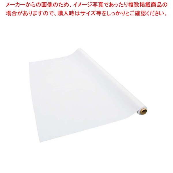テーブルクロス 梨地無地 ホワイト 137cm×30m巻 厚み0.15mm 【厨房館】店舗備品・インテリア