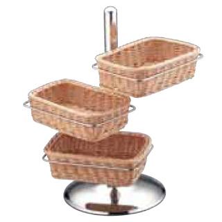 【 業務用 】UK18-8 PP製パンかごスタンド角型