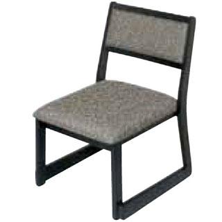 【 業務用 】木製都高座椅子 新翁(布)フレーム黒 12017595