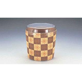 【まとめ買い10個セット品】【 業務用 】ベーキングカップ[茶ブロック柄] SC850-A本体・蓋セット