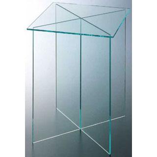 【まとめ買い10個セット品】【 業務用 】アクリルディスプレイ角テーブル