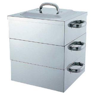 【まとめ買い10個セット品】【 業務用 】SUS444電磁対応角蒸器 2段 PE 36cm PE