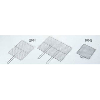 【まとめ買い10個セット品】18-8クリンプ焼網 ENDO ダブル取手 ENDO 【厨房館】