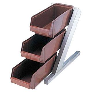 【まとめ買い10個セット品】【 業務用 】オーガナイザー3段1列 ENDO ブラウン ENDO