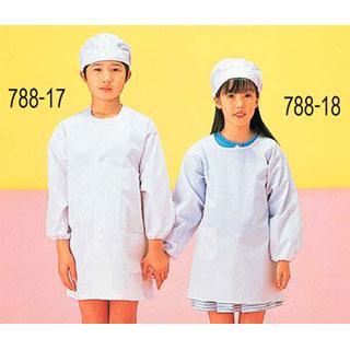 【まとめ買い10個セット品】【 業務用 】前開給食衣 [白]KI-358 LL[小6]