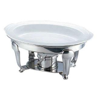 【 業務用 】小判チューフィング用陶器フードパン 15♭1/2♭ インチ[ツバ付]