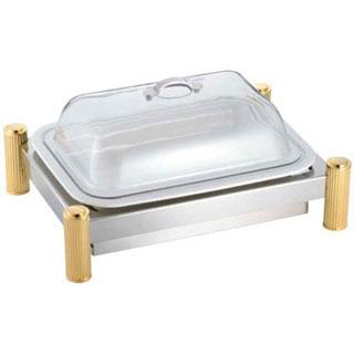 【 業務用 】SW 電気ビュッフェウォーマースタンド 角陶器皿セット 16インチ