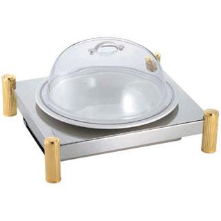 【 業務用 】SW 電気ビュッフェウォーマースタンド 丸陶器皿セット 14インチ