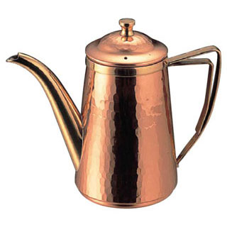 【まとめ買い10個セット品】【 業務用 】銅槌目入コーヒーポット 5人用