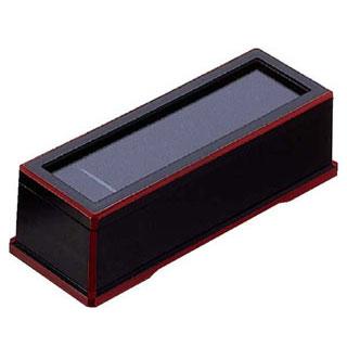 【まとめ買い10個セット品】【 業務用 】黒渕朱箸箱 [ABS]
