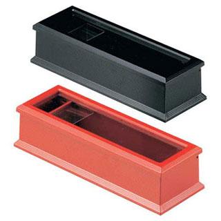 【まとめ買い10個セット品】【 業務用 】ABS箸箱 赤M10-978