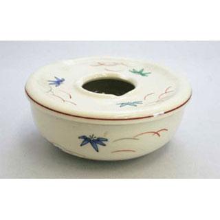 【まとめ買い10個セット品】【 業務用 】【 陶器 笹絵蓋付灰皿 大 】