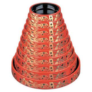 【まとめ買い10個セット品】【 業務用 】[若]DX富士型桶 朱に結び 若 1-478-90 尺7寸 若