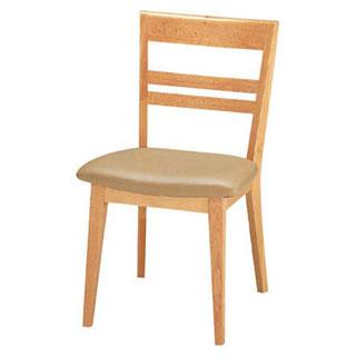 【 業務用 】椅子 ブナ白ベージュレザー 9-131-1